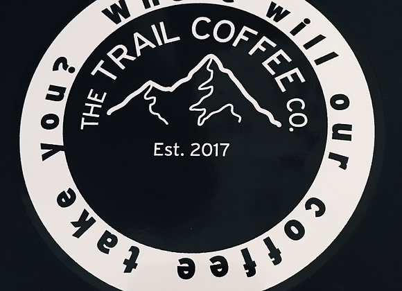 Large Trail Coffee Company logo sticker Sticker