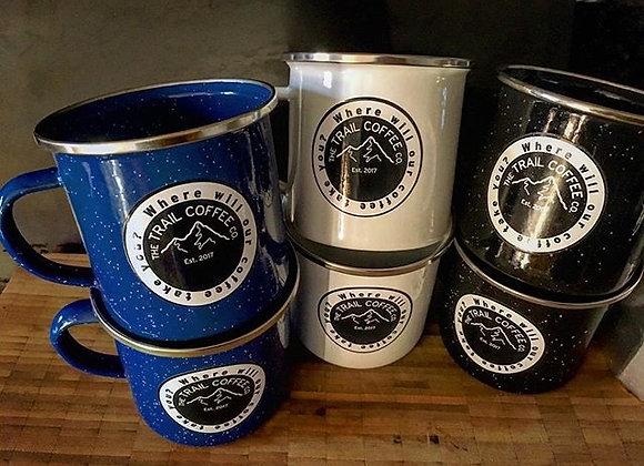 Trail Coffee Enamel Mug