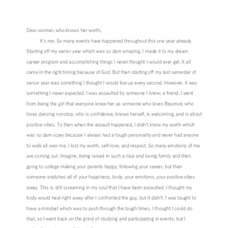 Letter to my Body Part 1