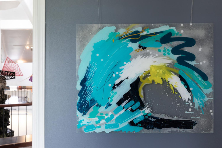 """Wipeout (Pine Trees), Acrylic on Plexiglass 24x30"""""""