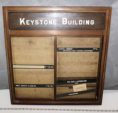 Keystone Office Building Directory Board