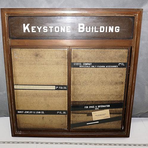Keystone Office Building Directory Board