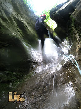Discesa in corda canyoning Umbria