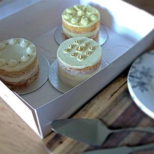 Wedding cake tasting sample box candyand