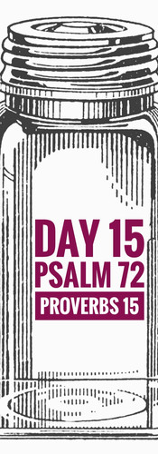 Day 15 Psalm 72 + Proverbs 15