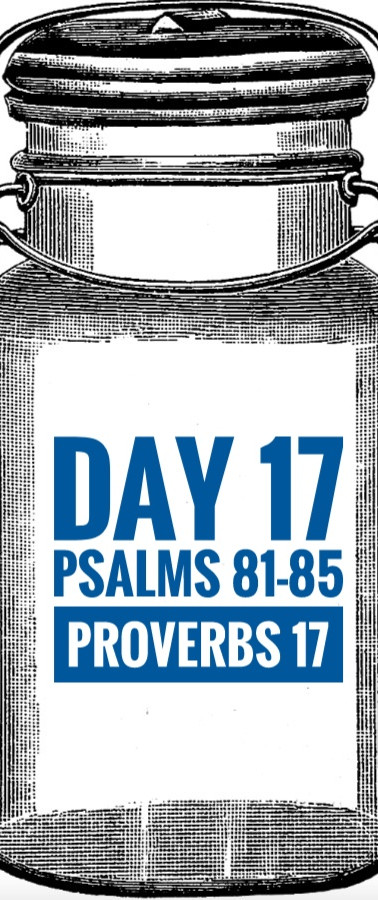 Day 17 Psalms 81-85 + Proverbs 17