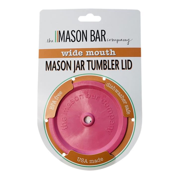 BubbleGum Pink MBC Jar Tumbler Lid