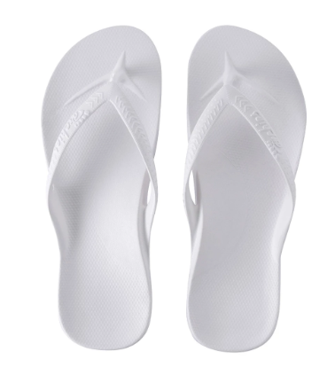 Archies - Arch Support Thongs White