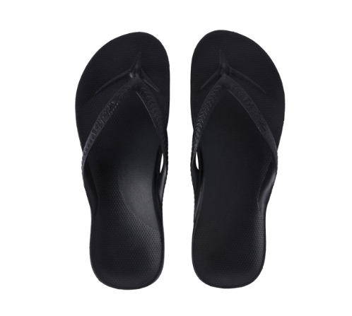 Archies - Arch Support Thongs Black