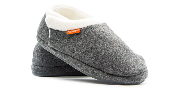 Archline Closed Slipper - Grey Marl