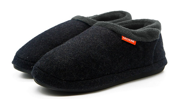 Archline Closed Slipper - Charcoal Marl