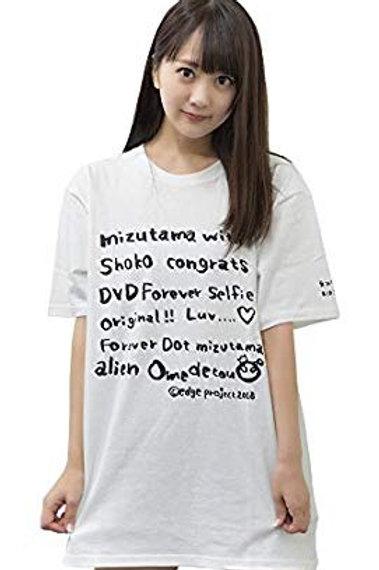 浜田翔子×水玉タレントプロモーション コラボオリジナルTシャツ 限定サイン入り