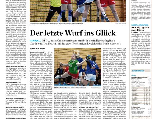 +++ Das spannende Endspiel unserer Frauen um den Landespokal 2019 +++  Quelle: Mitteldeutsche Zeitun