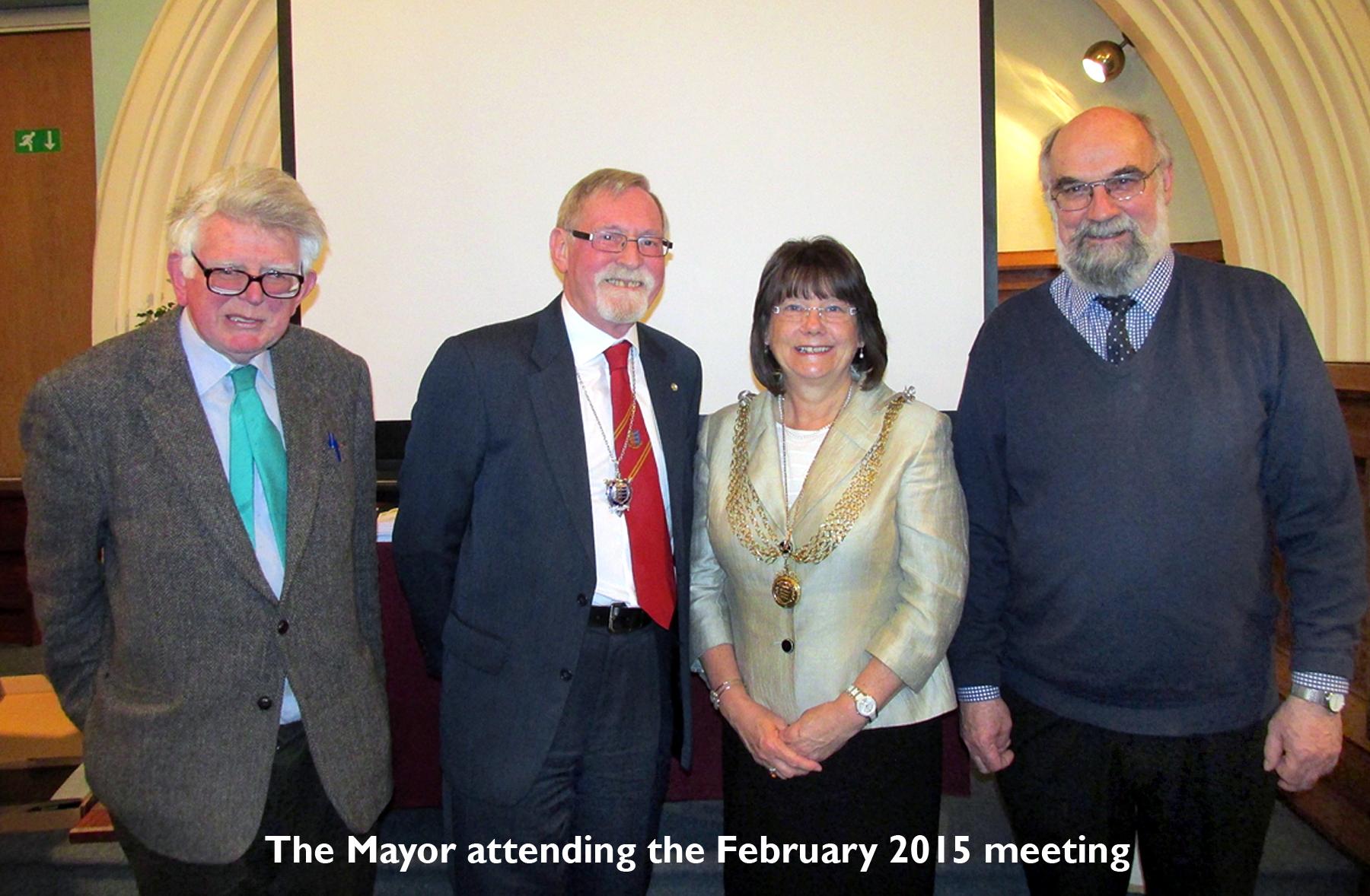 Mayor attends Feb 2015 Meeting