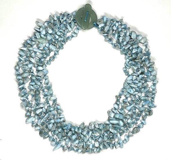 Larimar multistrand necklace
