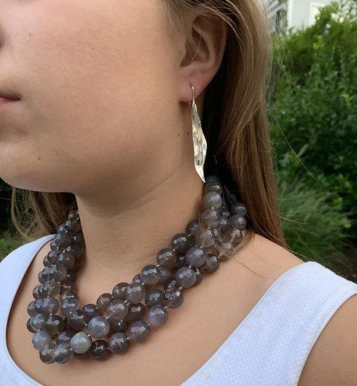 Agate multi strand necklace