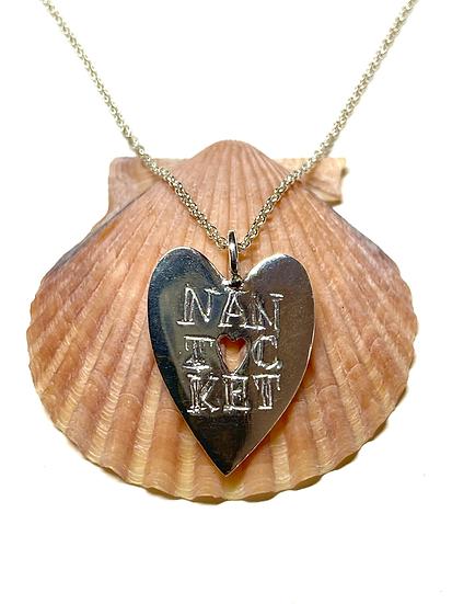 Nantucket heart sterling silver