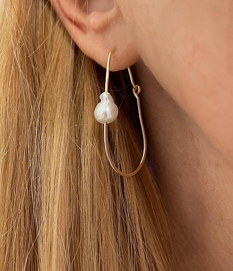 Goldfilled Pearl hoops