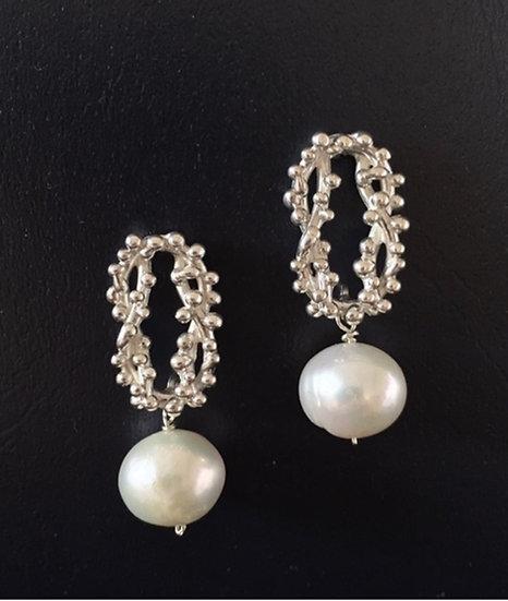 Sterling silver Nantucket Knot earrings