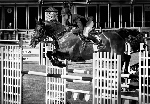 'Show jumping at Balmoral' by Elizabeth Tullett, Ards Camera Club