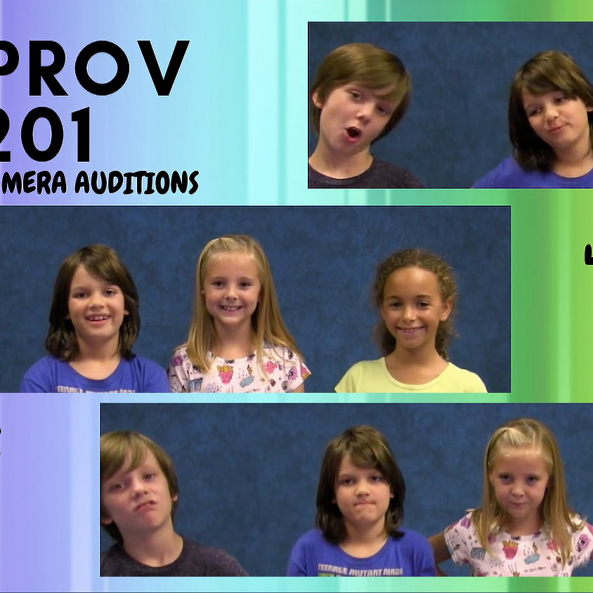 IMPROV 201: For On-Camera Auditions [Ages 6-9]