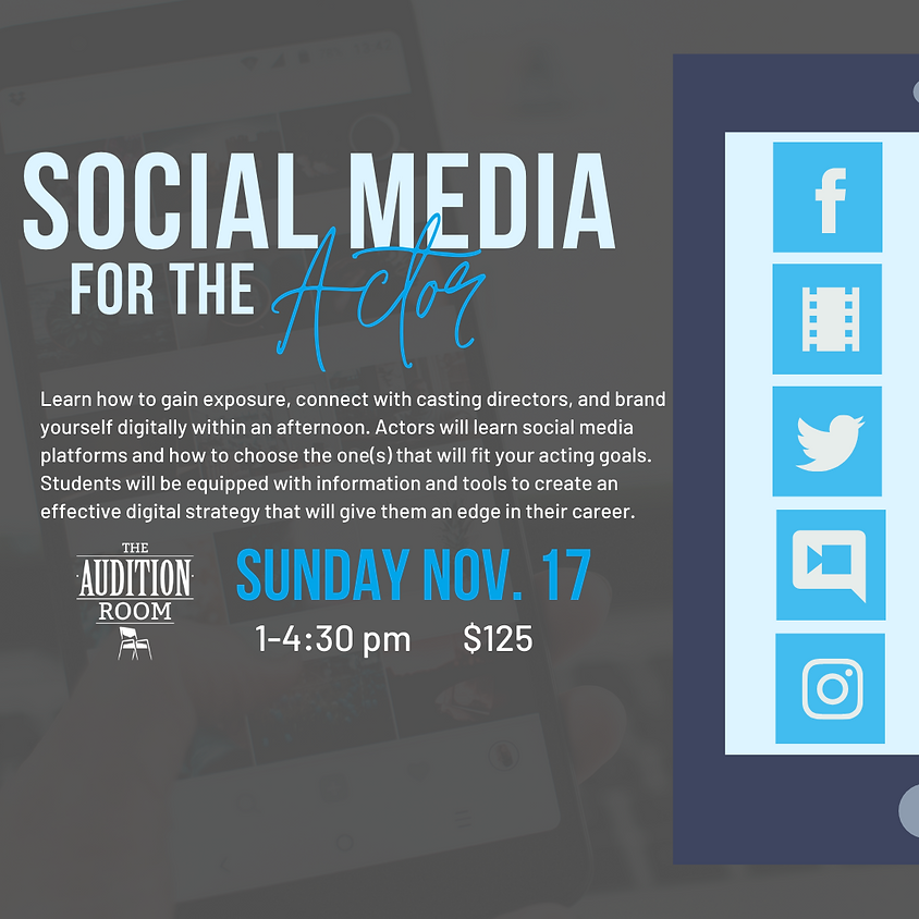 Social Media for The Actor