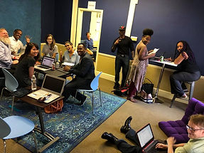 Actors gathered for event at The Audition Room