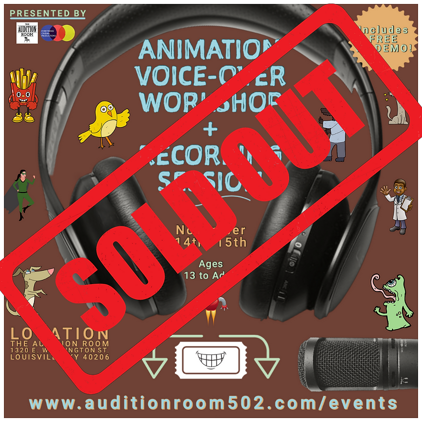 Animation Voice Over Workshop & Recording Session