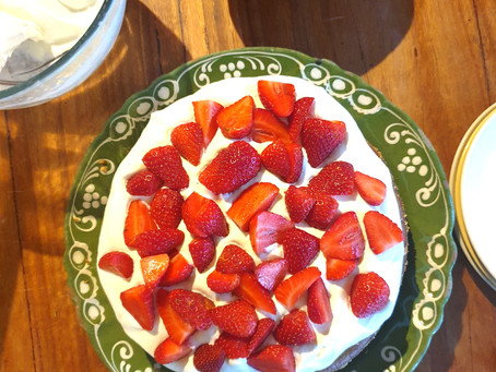 Strawberry Season Celebration Cake