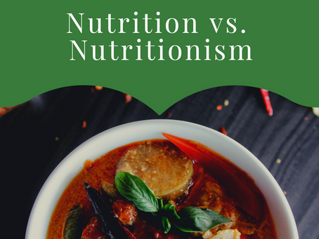 Nutrition vs Nutritionism