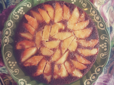 Spiced Quince Upside-down Cake