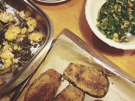 Falafel Mix-Crumbed Eggplant