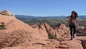 "Hiking to The Vortex, aka ""The Bowl"" in Southern Utah"