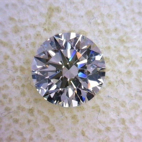 Natural round brilliant diamond 0.90 F VS2 GIA certificate