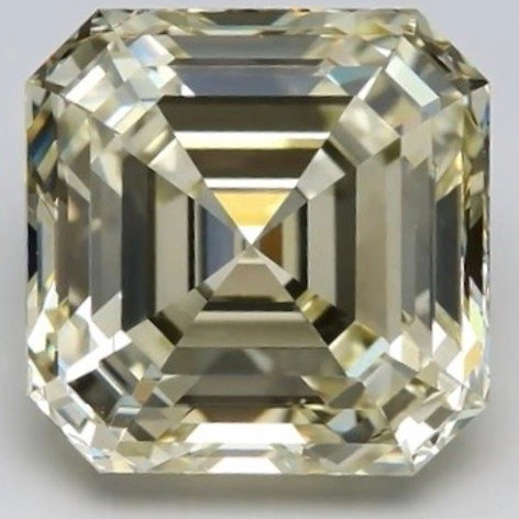 7-carat asscher cut diamond O-P color VVS2 quality