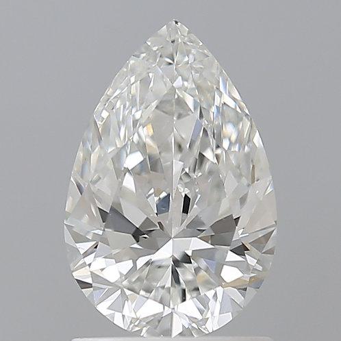Diamant taille poire/goutte 1 carat couleur G qualité VS2