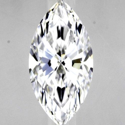 Diamant taille marquise/navette 1.26 carat couleur D qualité VVS1