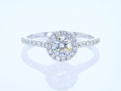 Engagement ring set with a 0.50 carat diamond (half a carat)