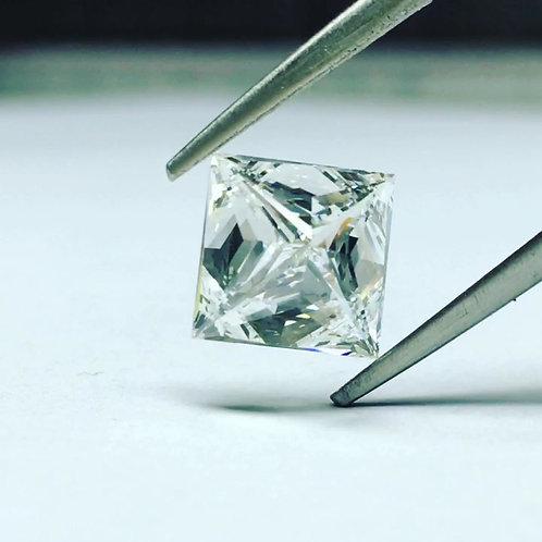 Diamant naturel de taille Princesse 1.01 carats G VS2 certificat GIA