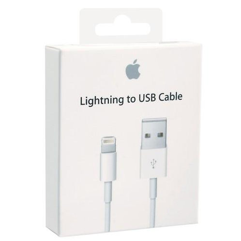 Apple MD818ZM/A USB (1m) Lightning Cable  (Mobile, White)