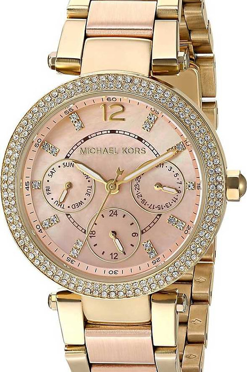 Michael Kors Watches Mini Parker Two-Tone Multifunction Watch-For Women