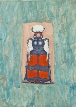 Kriegerin, 2005, Öl:Leinwand, 35×25