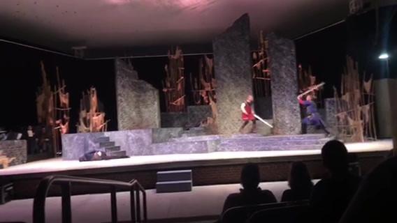 Combat scenes from Macbeth