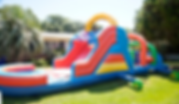 Inflatable waterslide obstacle course