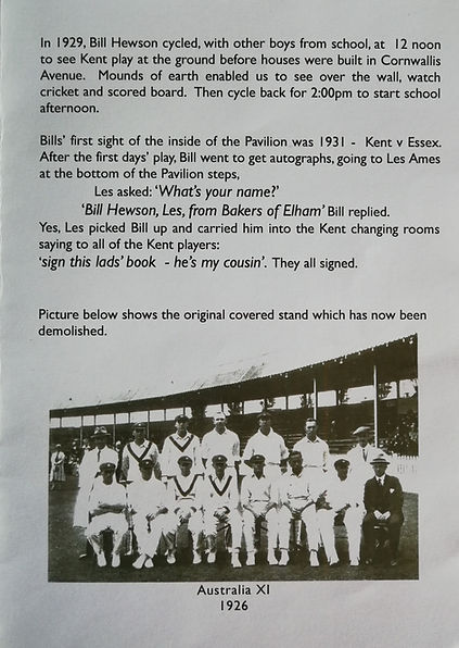 2012 Pavilion 3 Kents Sporting Memories.