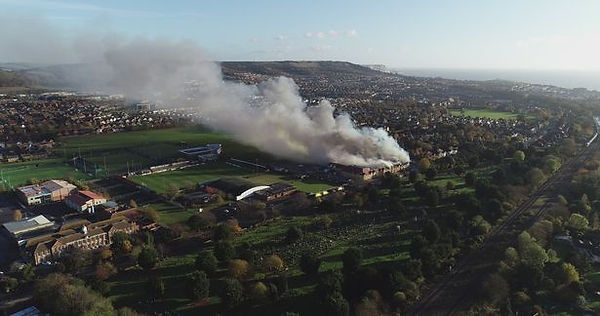 2018 Morrisons fire (Ollie King KentLive