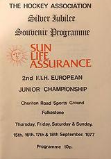 1977 cric ground hockey prog Folkestoneh