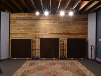 SG Studio's Main Tracking Room Pallet Wall