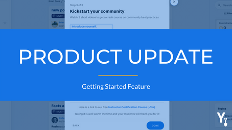 New Feature: Getting Started