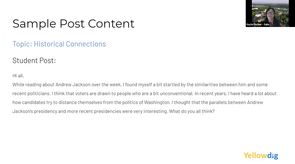 Yellowdig's Student Post